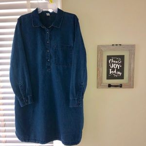 Old Navy Denim Shirt Dress